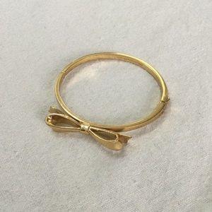 Gold Kate Spade Bow Bracelet Bangle